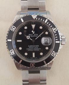 Rolex - Submariner Data - 16610, Unisex, 2000-2010