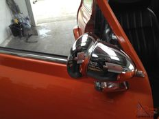 Special aluminium Bullet, Torpedo mirrors for attachment to the doors of a Classic Mini!
