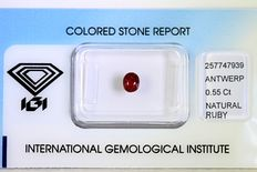 Ruby – 0.55 ct – No reserve price