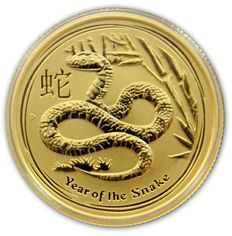 "Australia - 25 dollars 2013 ""Year of the Snake"" - ¼ oz of gold."