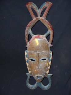 Beautiful GOURO or GURO mask - Ivory Coast