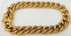 18kt (750/000) rose-yellow gold bracelet in polished/matte *Low reserve price*