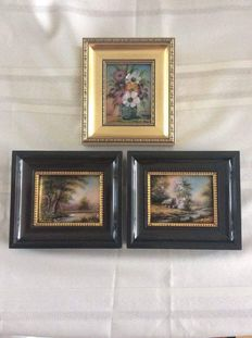 Three paintings of Limoges