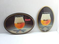 Old cardboard advertising signs from Belgium - from approx. 1983 / 1985.