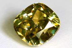 Diamant - 1.31 ct  - Fancy Greenish Yellow- VS2 - Zonder Reserve Prijs