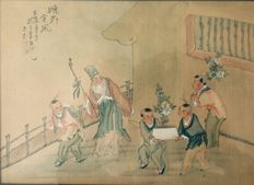 Painting on silk - China - Early 20th century