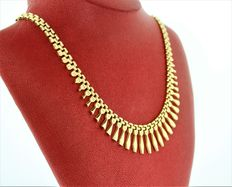 14kt gold. Necklace made in Italy. 17 inches.