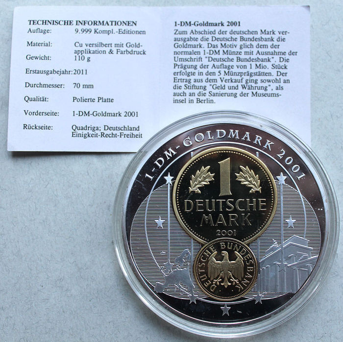 Collection Of 4 Giant Medals Germany 2011 2013 Silver Plated