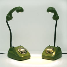 Two units of Vintage Phone Lamp