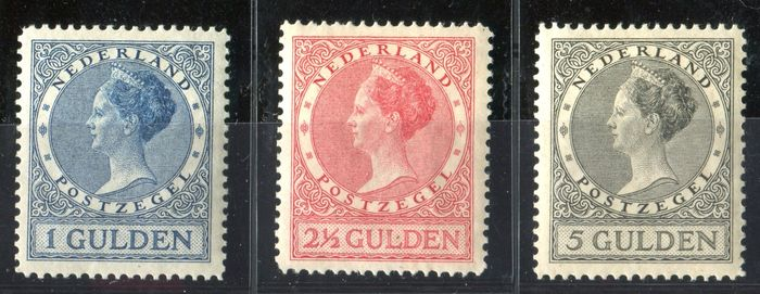 Netherlands 1926/1927 – Queen Wilhelmina type 'Veth' – NVPH 163/165