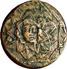 Greek Antiquity - Pontos, Amisos. Time of Mithradates VI Eupator. Circa 85-65 BC. Æ20. Nike advancing right