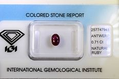 Ruby – 0.71 ct – No reserve price