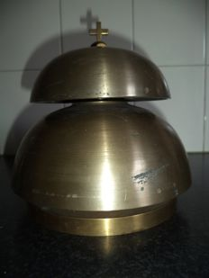large bronze double altar bell - 9 kg. - circa 1920 - the Netherlands