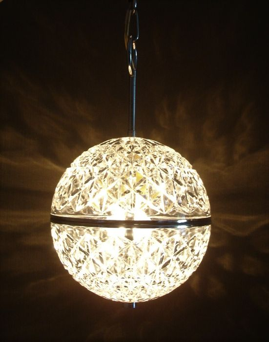Space Age crystal ceiling lamp