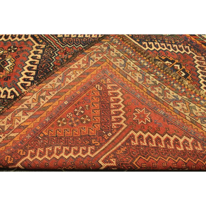 Qashqai Shiraz Rug: Collector's Item, Old Persian Carpet, Qashqai Shiraz, 245