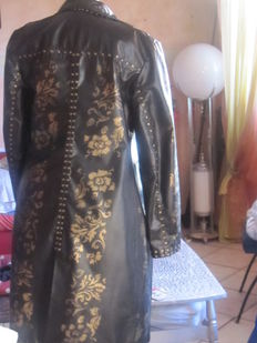 Steampunk coat leather