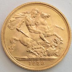 Great Britain - Sovereign 1958 Elizabeth II - gold
