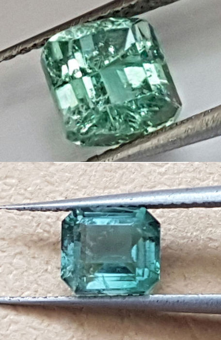 Two tourmalines  1.64 ct & 1.44 ct