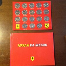 Lot of 18 Ferrari da Record Medals - Published in collaboration with Bolaffi, with book of technical features of medal models