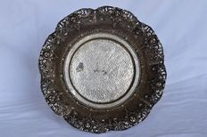Djokja silver dish - Indonesia - 2nd half 20th century