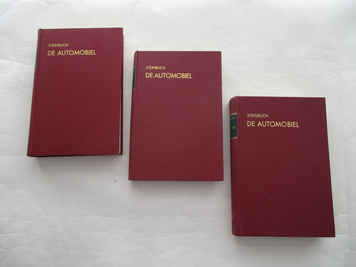 G.F. Steinbuch and others - 3 piece set technical car books - De Automobiel - 1960s