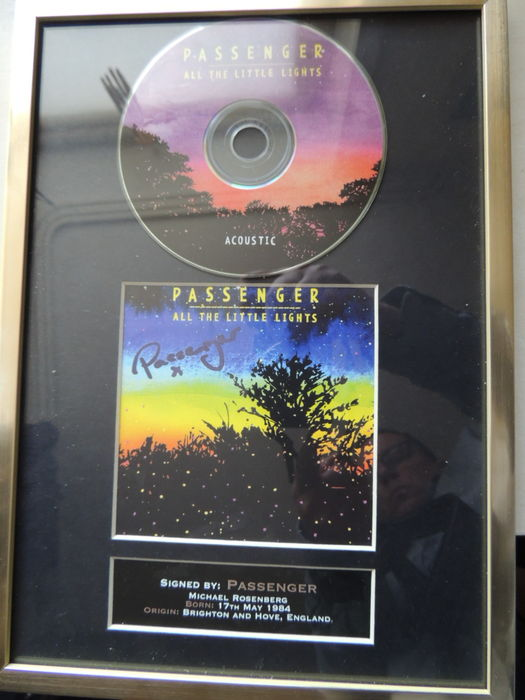 Passenger  - All The Litle Lights - Signed Autograph (in print) Cd With Cover - Beautiful