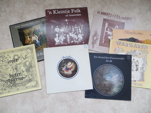 Psych / Folk - Various Artists lot of eight (8) rare LP's Dutch psych / folk