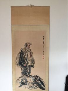 Hand painted hanging scroll, reproduction - China - late 20th century