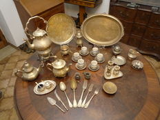 Various silver plated set pieces from the 20th century