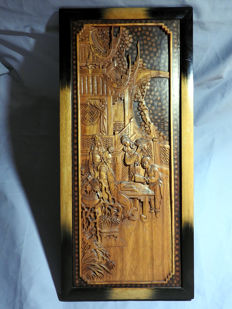 Wood carving of Confucius – China – Mid 20th century