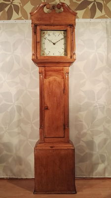 Antique English grandfather clock - Barcham, Tonbridge - period 1820