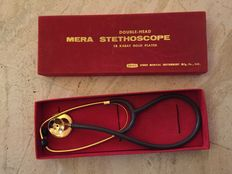Stethoscope 18 k gold plated - Collectors' Item