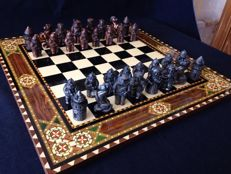 Vintage chess made of copper - Christopher Columbus
