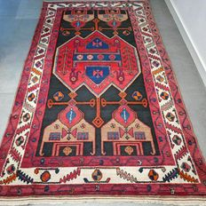 Special Hamadan, Persian rug - 233 x 131 - semi antique - with certificate