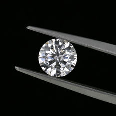Natural Faint pink 1.05 ct. round brilliant cut diamond. GIA