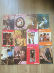 Spanking; Lot with 12 Roué magazines - 1980s
