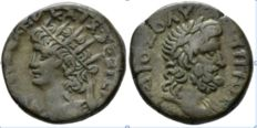 Roman Empire - Egypt, Alexandria Nero, 54-68 Billon Tetradrachm circa 66-67 (year 13)