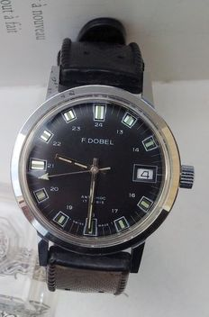 F. Dobel – Swiss made military/navy wristwatch for men with date – 1970s