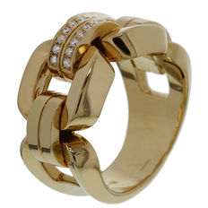 "Chimento – ""Febo"" rose gold ring with diamonds - ring size: (55) 17.5"