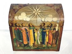 Icon-painting wood box (Russia, early 20th) - Avant-garde