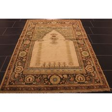 Old collectors' carpet Tetex the German Persian 190 x 130 cm plant colours carpet Heriz pattern handiwork around 1910