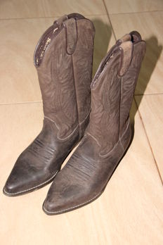 Brown Cowboy Boots by Joe Sanchez - Size 39