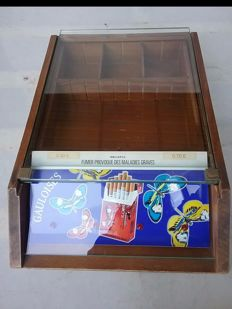 Gauloises cigarettes display - from a tobacco shop