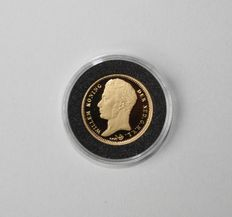 The Netherlands – Official remint gold 10 guilder 1818