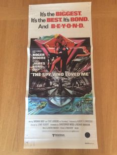 James Bond The spy who loved me,  Australian daybill cinema poster