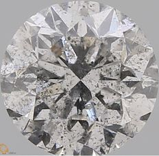 0.70CT F/I2 GIA Certified round brilliant cut Diamond - Original Image 10X - Laser Inscribed