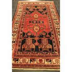 Persian rug Malay Bidjar 240 x 145 cm made in Iran around 1950 natural colours