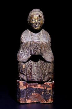 Beautiful Gilt Wooden Buddha  -  China - 16th Century ( Ming Dynasty )
