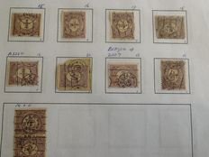 The Netherlands - Collection of printed stamps and newspaper stamps, among others.