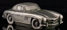 Silver tin sculpture Mercedes-Benz Gullwing 22 x 9 x 7 cm